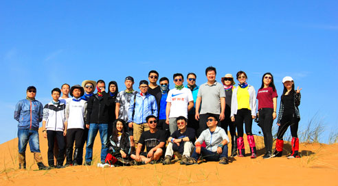 Jingshun team in the Tengger Desert